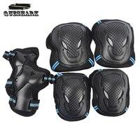 6 Stks/set Mannen Vrouwen Kinderen Kid Sport Rolschaatsen Skateboard Skiën Elleboog Knie Pads Pols Beschermende Guard Gear Pad Gear