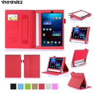 YNMIWEI For Yoga Tab2 830F 830L Tablet Case 8 0 Inch Wallet Hand Strap Cover For