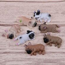 9 stile Französisch Bulldog Schläfrig Corgis Hund Spielzeug Landschaft Decor Tiere Puppen Kinder Geschenke Action-figuren PVC Modell Spielzeug
