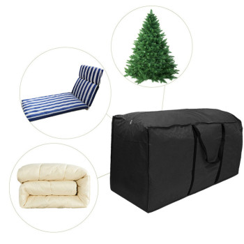 1Pc Outdoor Patio Furniture Chaise Christmas Tree Waterproof Protect Cover Polyester Storage Bag Multi-Function Storage Cushion image