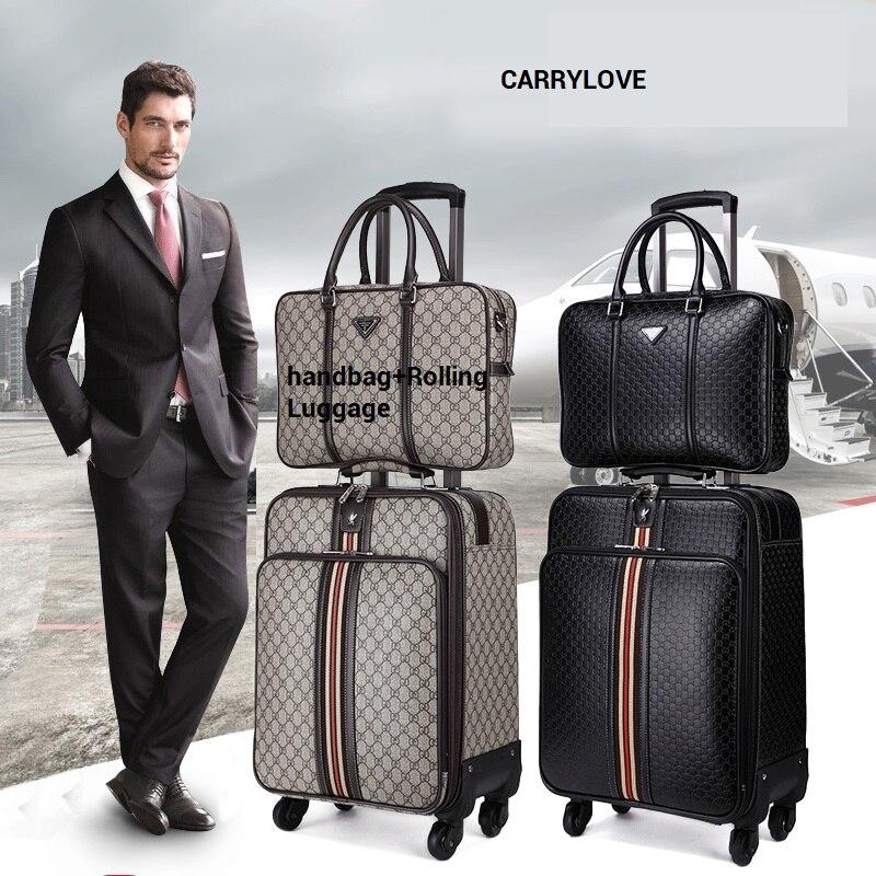 CARRYLOVE mode bagages série 16/20/22/24 pouce sac à main + Bagages À Roulettes Spinner marque Voyage Valise