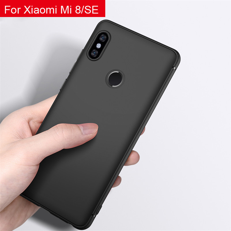Xiaomi Mi 8 SE Matte TPU Case for Xiaomi Redmi Note 5 Pro Soft Flexible Anti Fingerprint TPU Cover Redmi Note 5 AI Dual Camera