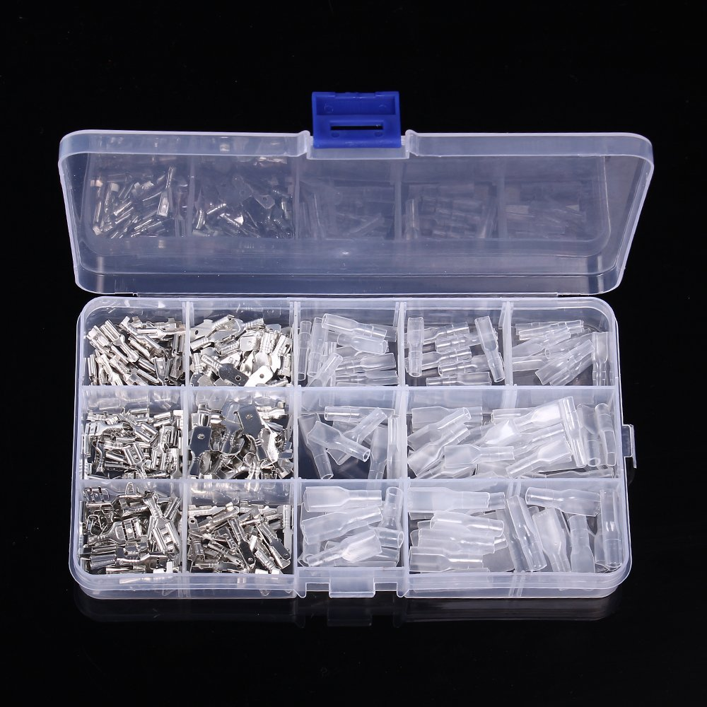 270PCS Male Female Spade Connector Wire Crimp Terminal Assortment Car Motorcycle