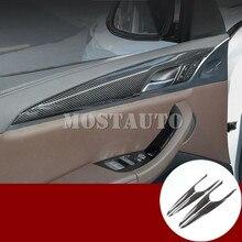 Для BMW X3 G01 X4 G02 углеродного волокна Стиль двери автомобиля Панель крышка отделка 2018-2019 4 шт