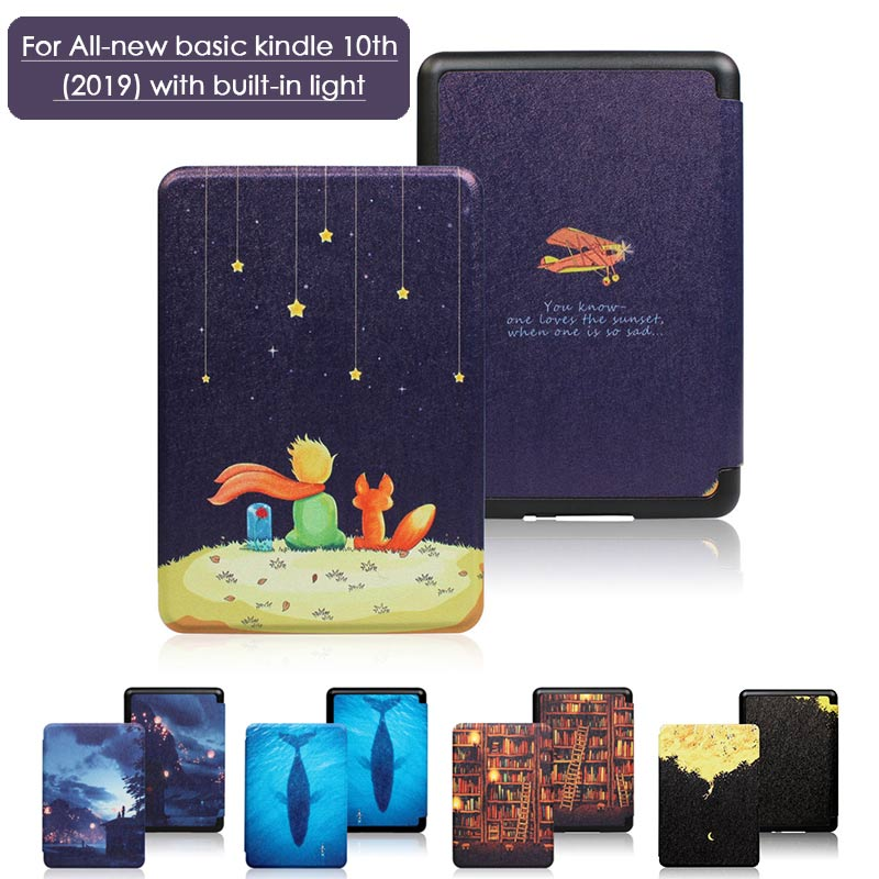 Folio Case For Amazon All-new Kindle (2019 Release) Lightweight PU Leather Smart Cover Shell For Amazon Kindle 10th Gen E-Reader