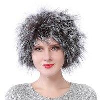 Valpeak 2017 Women Headbands Fox Fur Collar Scarf Luxury Brand High Quality Head Scarf Winter Wrap