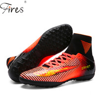 Fires 2016 Men High Ankle Soccer Shoes Woman Football Boots Boys Kids Sport Soccer Cleats Football