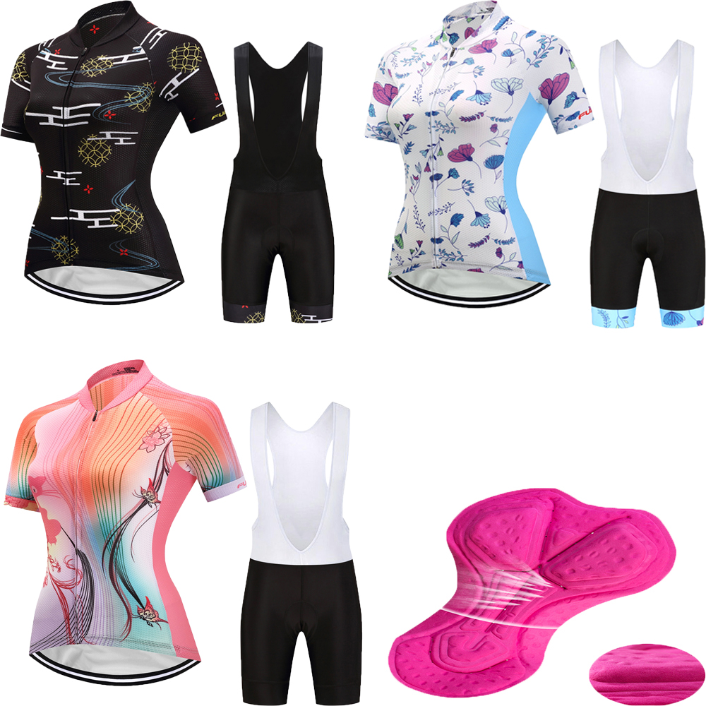 Quick-dry women's cycling clothing mountain bike jersey sets 2018 MTB short bicycle clothes sport wear pro suit skinsuit kit gub 116 titanium axle safety quick release mountain bike bicycle use al6061 t6 tc4 light weight quick dismantling mtb