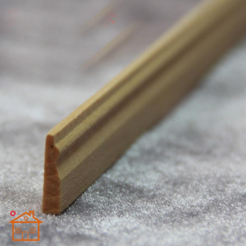 Baseboard Molding Dollhouse Miniature Trim Skirting Board 1/12 Scale DIY L60cm*1.5cm  #B002