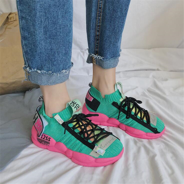 Vulcanize Sneakers Women Horsehair Shoes Fashion Ladies Platform Sneakers Breathable Soft Woman Chunky Shoes Casual Flats