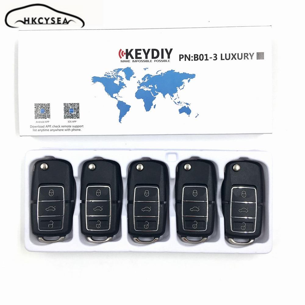 10pcslot KEYDIY Original KD900 B Series Remote Control 3 Button Key B01 LUXURY for KD900 KD900+ URG200 KD-X2 Key Programmer free shipping 5pcs lot b01 3 button kd900 remote key b series for keydiy programmer urg200 kd900 kd200