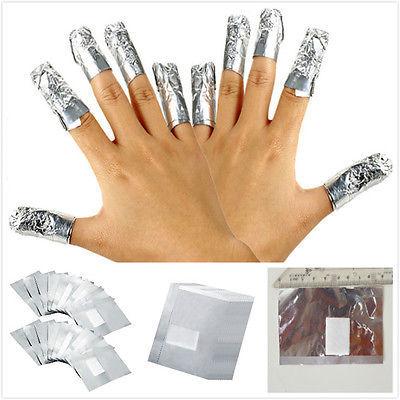 100Pcs/Lot Aluminium Foil Nail Art Polish Nail Removal