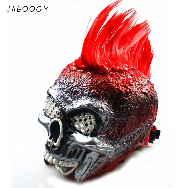 free shipping halloween mask mask led luminous nuclear death metal punk band perform mask christmas gift for men and women in glow party supplies from home - Death Metal Christmas