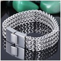 12mm/18mm Top Design 316L Stainless Steel Silver Cool Chain Biker Jewelry Mens Boys Bracelet Bangle Highly Polished Not Fade 9""
