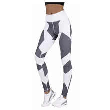 S-QVSIA Fitness legging Gothic Women Black and white graphics digital printing Leggings Legins Elastic Fitness Women Pants
