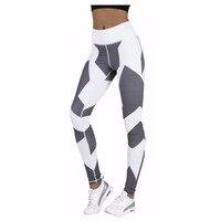 S-QVSIA Fitness legging Donne Gotiche grafica in bianco e Nero stampa digitale Leggings Legins Elastici Per Il Fitness Pantaloni Donna