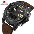 NAVIFORCE Nova Marca de Luxo Masculina LEVOU Relógios Digitais Homens Esportes Militares dos homens Relógio De Quartzo De Couro Relógio de Pulso Relogio masculino
