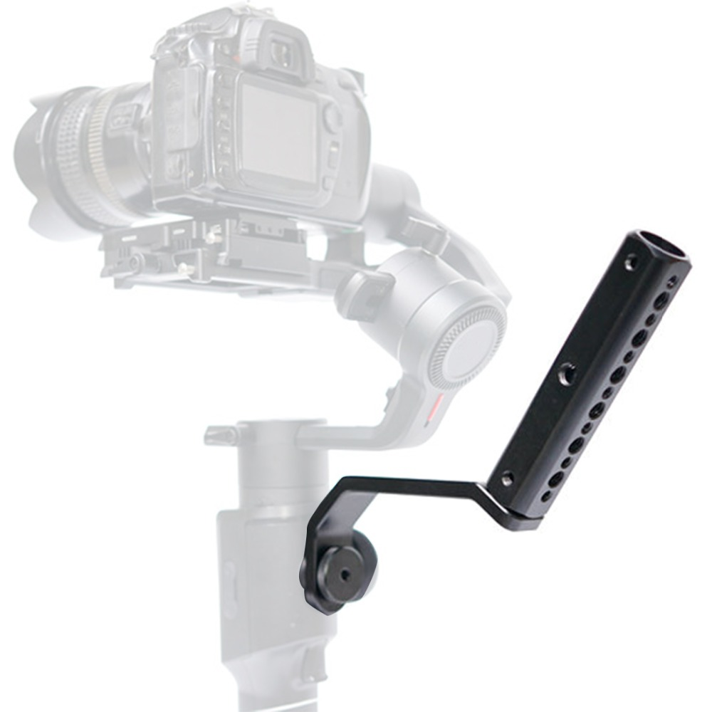 Back Portable Extension Arm Bracket with 1/4 Screw Mount for FeiyuTech AK4000 AK2000 MOZA Air2 Gimbal Video Light Mic