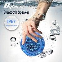 CYBORIS Outdoor Ipx7 Waterproof Speaker Swimming Mini Portable TWS Bass Wireless Shower Bluetooth Handsfree Microphone TF