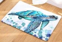 CAMMITEVER Sea Turtle Tier Teppich Flur Willkommen Fußmatten Tapete Teppich Druck Bad Küche Teppich Haus Hause Fußmatten