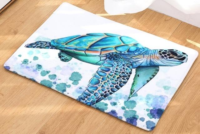 CAMMITEVER alfombra con estampado de tortuga marina, Tapete de bienvenida para el pasillo, alfombras Tapete de baño, cocina, felpudo para el hogar