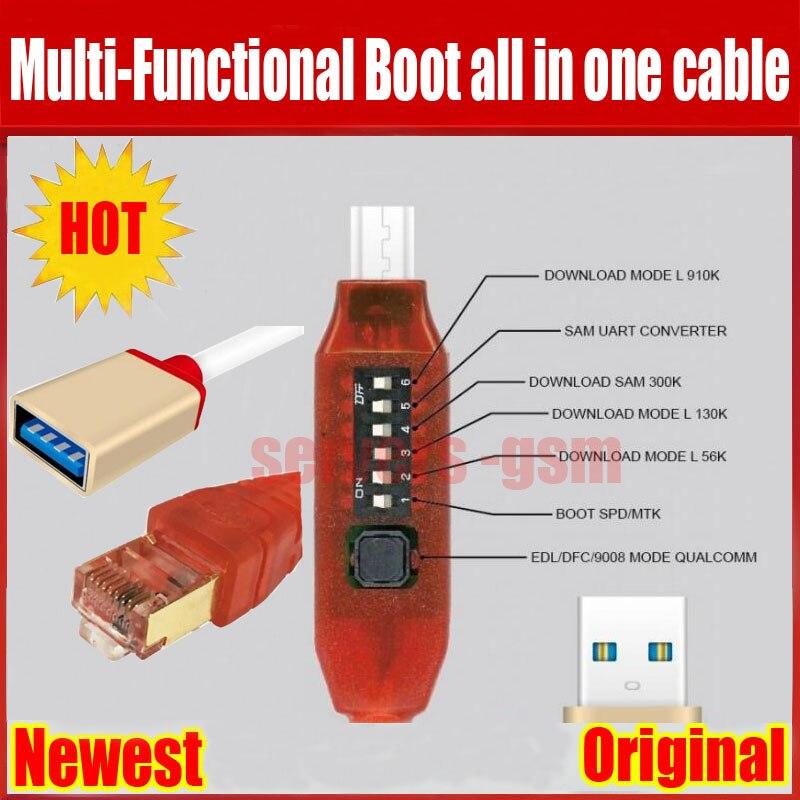 Todos arranque Cable (fácil conmutación) Micro USB RJ45 todo en uno multifunción Cable de arranque edl cable