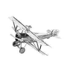 2018 Nanyuan 3D fém Puzzle Nieuport 17 Fighter DIY Lézer vágott puzzle Jigsaw modell felnőtt oktatási játékok Desktop dekoráció
