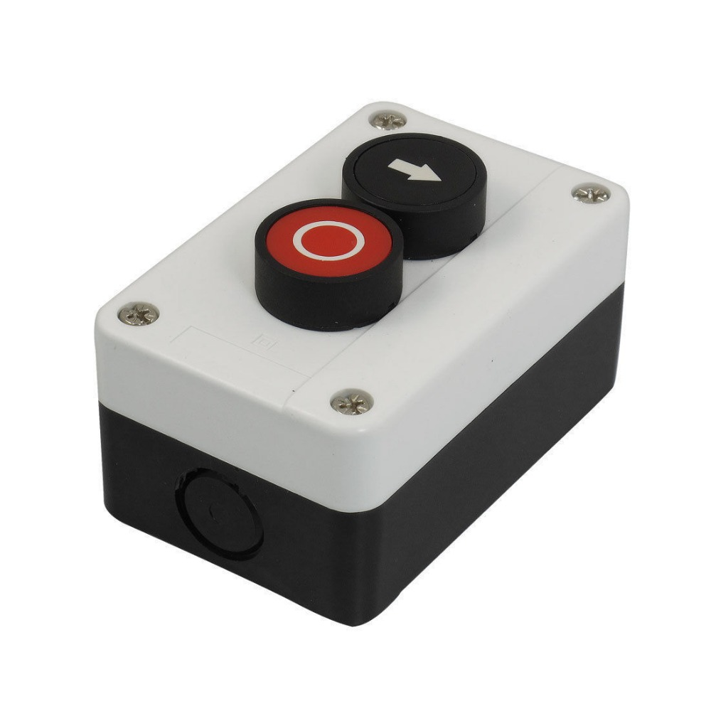 Momentary Red Black Sign N/C Push Button Switch Station AC 600V 10A Rxqcn