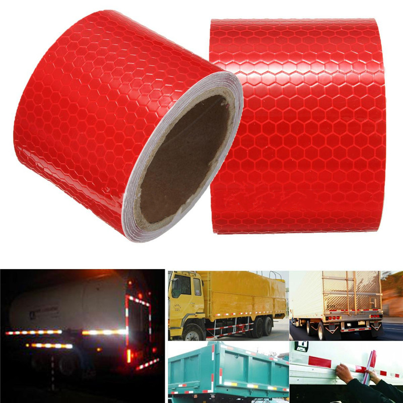 купить New 2X10' 3 Meters Red Reflective Safety Warning Conspicuity Tape Film Sticker For Motorcycle Tricycles High Quality недорого