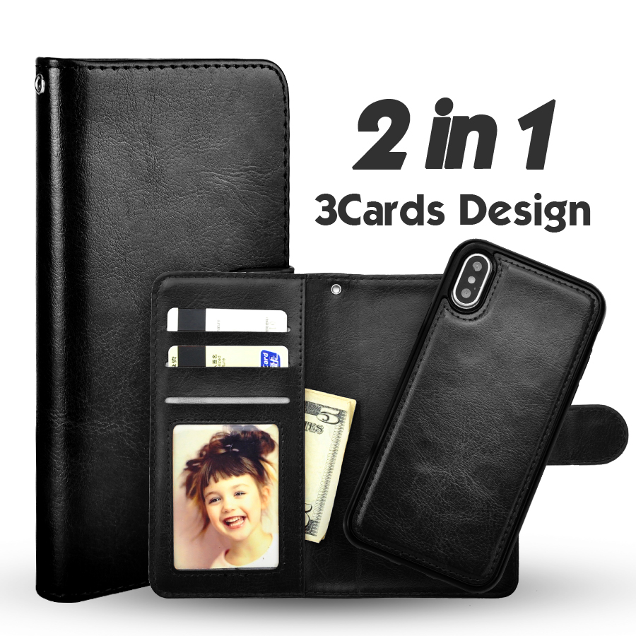 Lancase для IPhone X кожаный чехол Роскошный PU Магнитная Съемная флип чехол для iPhone X 10 чехол TPU Card слоты Coque стенд