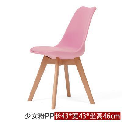 Простой современный домашний стул для столовой задний офисный стул креативный твердый деревянный Северный стул - Цвет: 13