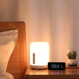 Image 3 - Original Xiaomi Mijia Bedside Table Lamp 2 Mi Smart House Light Indoor Bed Light Changing Colors Wireless Connect Apple HomeKit