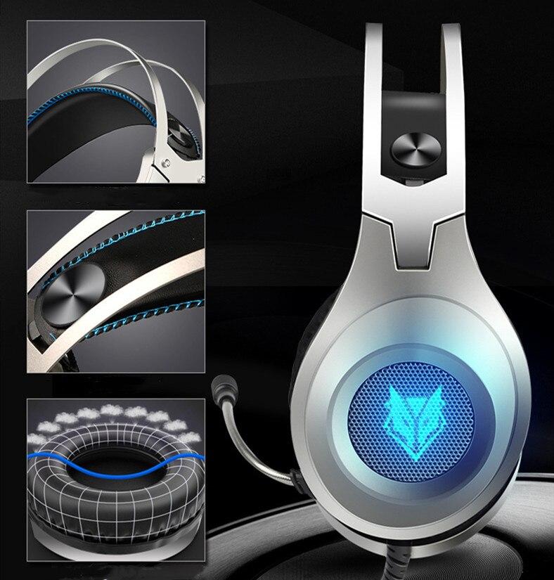 Gaming fone de ouvido com fio computador