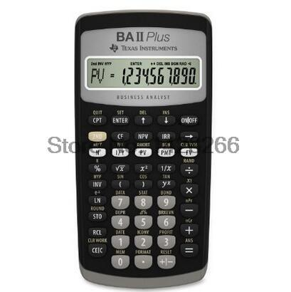 2016 Hot Sale Ti BA II Plus 12 Digits Plastic Led Calculatrice Calculadora Financial Calculations Students Financial Calculator