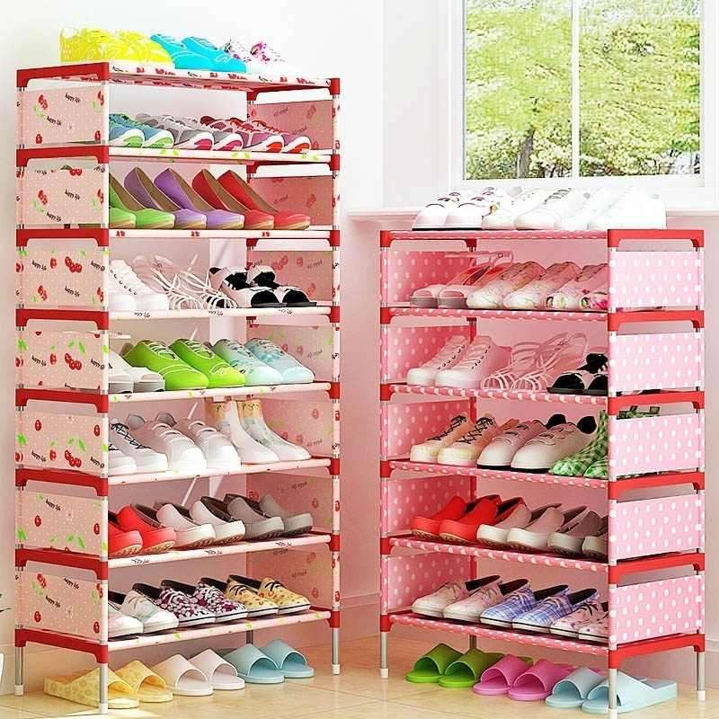 Schuh Lagerung Rack Schrank Veranstalter Halter Multi Schichten Montieren Schuhe Regal USA Lager Wohnzimmer Möbel Schuh Rack
