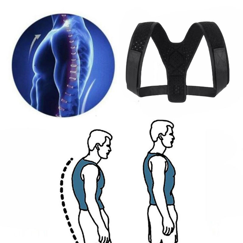 1PCS Clavicle Support Portable Brace Belt for Men Women Elastic Posture Corrector Support Back Brace with Breathable Straps