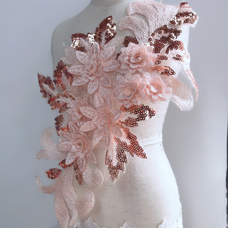 """9.5/""""*1Y Embroidered Floral Tulle Lace Trim~Black+Lt Brown+Ivory~Secret Daisy~"""