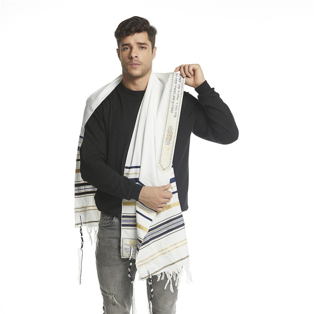 """Image 4 - Jinjin.QC Scarf For Men 72x22"""" (Approx) Messianic Jewish Tallit Talit Prayer Shawl and Talis Bag Prayer Scarves and Shawls-in Men's Scarves from Apparel Accessories"""