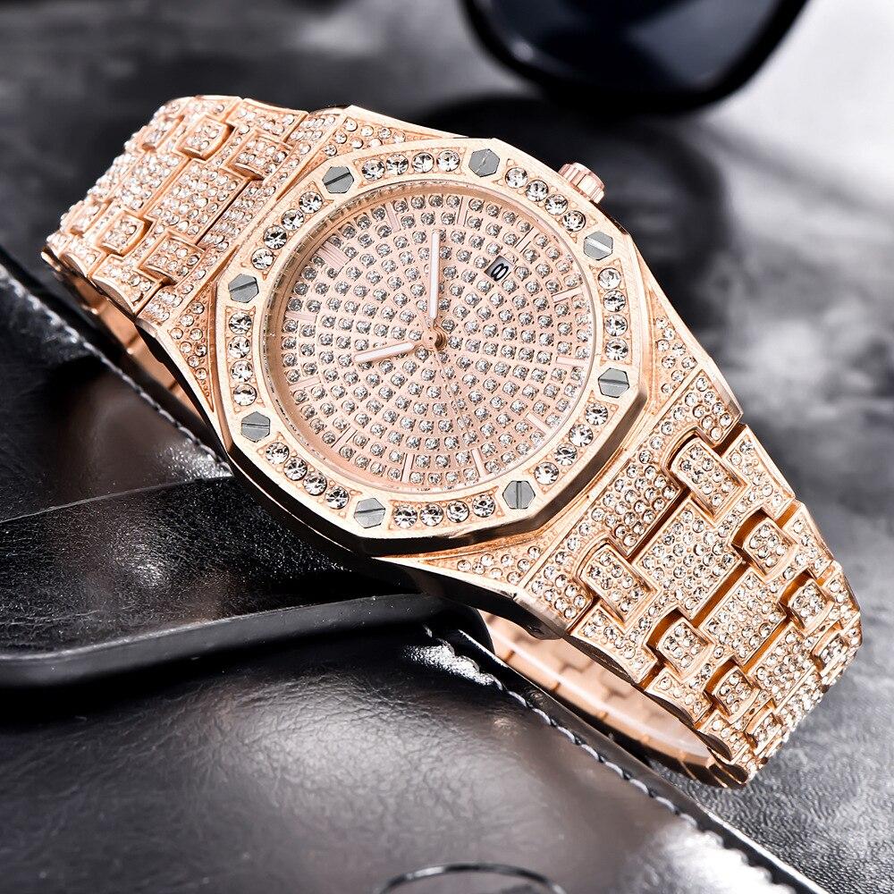 ap design hot fashion mens watches ice out bling diamond quartz watch for men 2019 drop shipping (6)