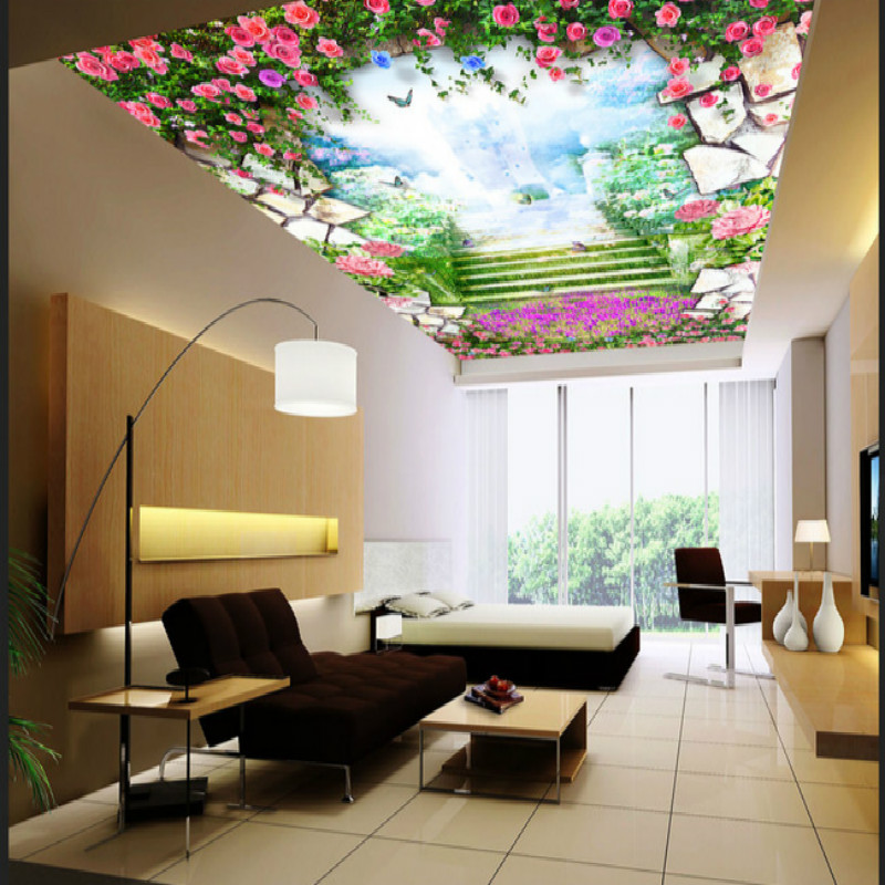 Unreal roses background zenith large mural 3D wallpaper bedroom living room TV backdrop painting three-dimensional 3D wallpaper