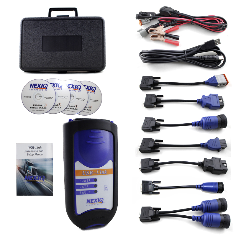 Newest NEXIQ Usb Link 125032 Truck Diesel Interface Software Full Set Nexiq 125032 USB Link Software High Quality DHL free