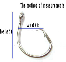 Free shipping 10pcs  super strong Stainless Steel big game fishing hooks size  14/0, from japan
