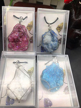 4pcs  Beautiful natural angel halo crystal specimen with pendant stone decoration