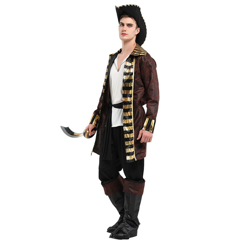 HUIHONSHE Hot Selling Halloween Pirates Cosplay Costume Fancy Dress Carnival For Adult Men Costume Made Suits For Male
