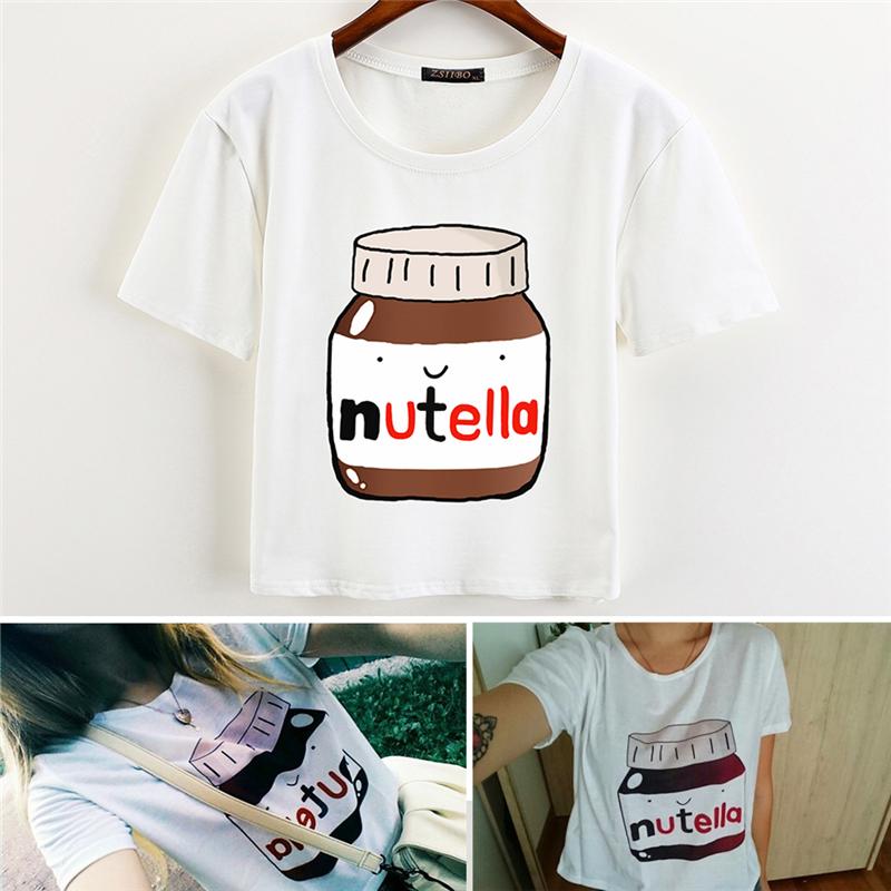 HTB12ZspQVXXXXXUaXXXq6xXFXXXo - Nutella Crop Tops Summer T Shirt