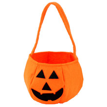 2016 New Design Unisex Interesting Halloween Smile Pumpkin Bag Kids Cute Candy Bag Children Boys and girls Backpack Wholesale