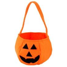 2016 New Design Unisex Interesting Halloween Smile Pumpkin Bag Kids Cute Candy Bag Children Boys and girls Backpack Wholesale