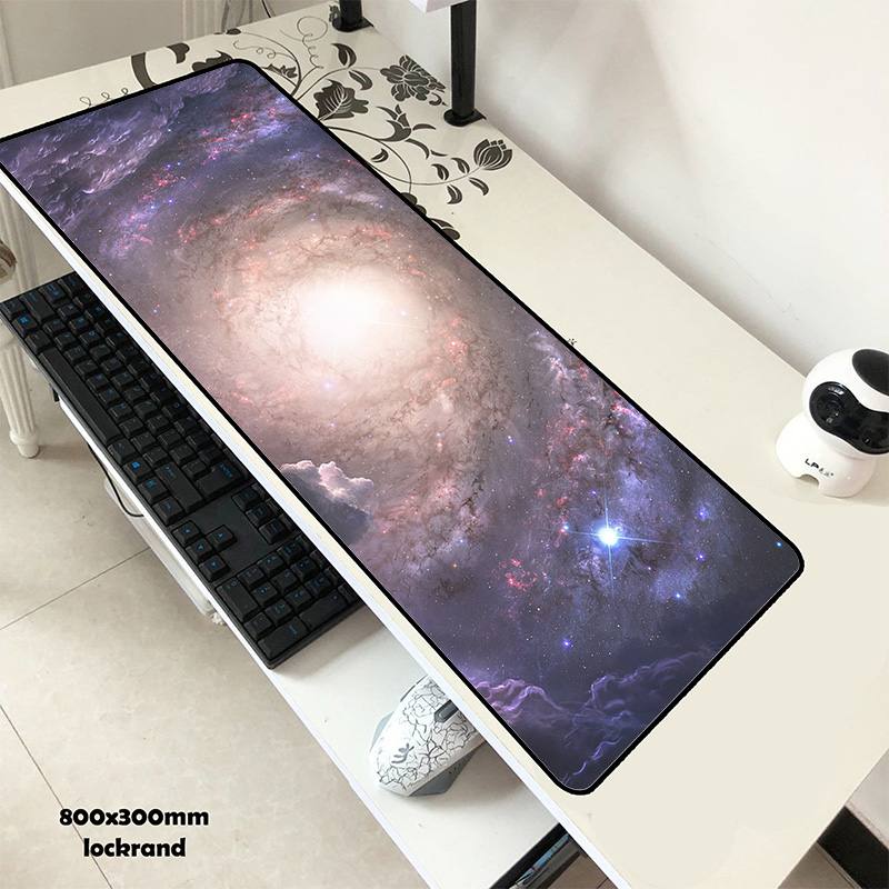 Galaxy mouse pad gel 80x30cm almofada para mouse bonito computador mousepad gamer mousepad para portátil presente tapetes do mouse