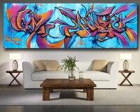 Wxkoil Rua Graffiti Art Vinie Mandra 2 Pintura A Arte Da Parede Da Lona Para Sala de estar Decoração de Casa Pintura A Óleo Sobre sapatas de lona|Pintura e Caligrafia|   -