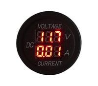 Red Led Car Motocycle Boat Digital 2 IN 1 Battery Volt Gauge Monitor Voltmeter Current Tester